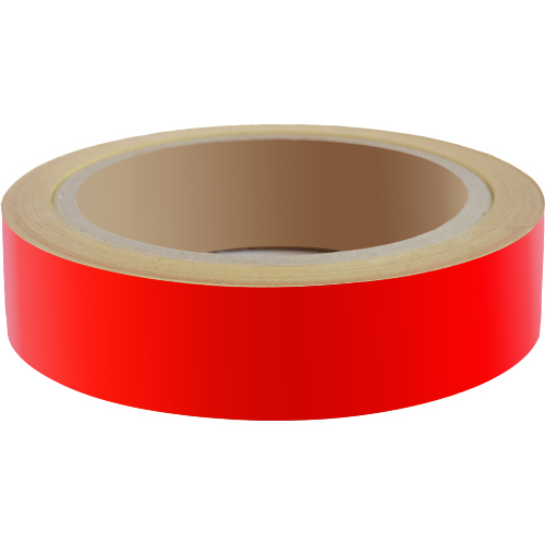 Reflecterend Tape ECONOMIC 25mm Rood