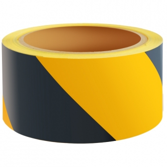 Reflecterend Tape ECONOMIC 50mm ZWART-GEEL links