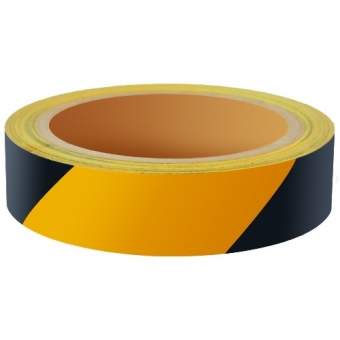 Reflecterend Tape ECONOMIC 25mm ZWART-GEEL rechts